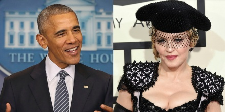 Madonna Says She Was Starstruck When She Met Obama